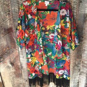 NWT Lularoe Monroe Kimono, tropical print
